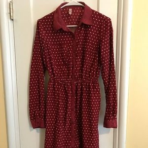 Button-Down Red Xhilaration Dress